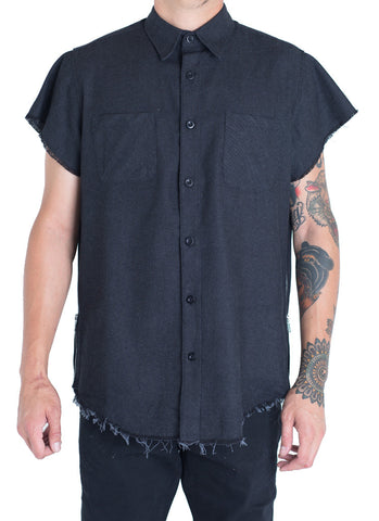 Billups Denim Button Up (Black)