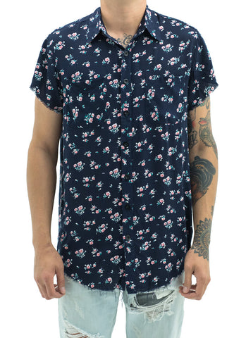 Billups 3 Floral Button Up (Navy)