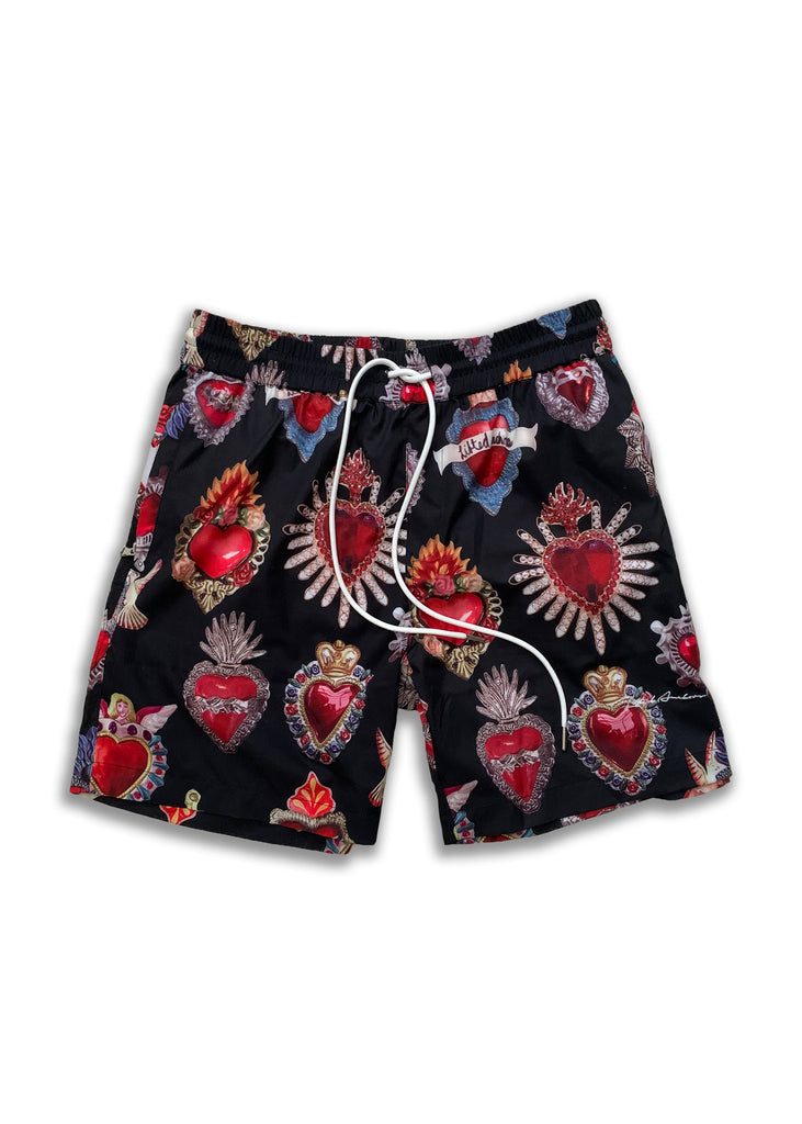 Parry Sacred Heart Walking Shorts (Black)