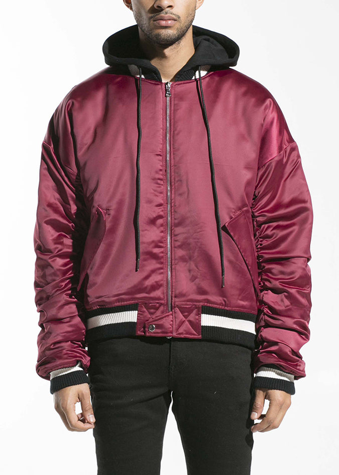 Houston Hooded Bomber (Maroon)