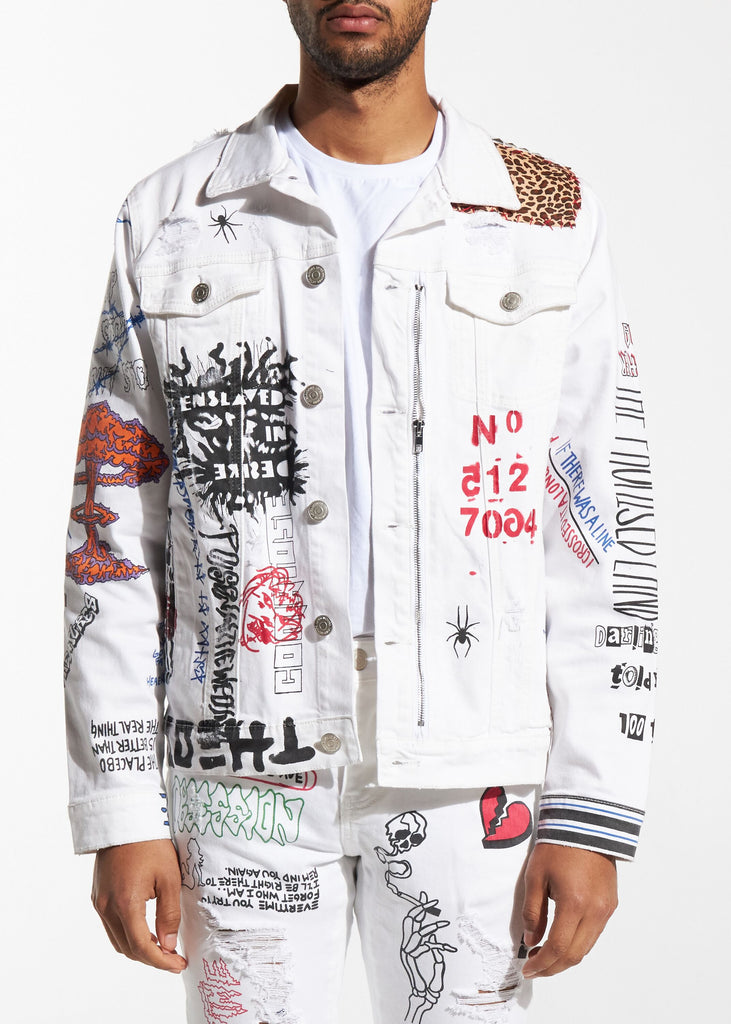 Hendrix Trucker Jacket (White)