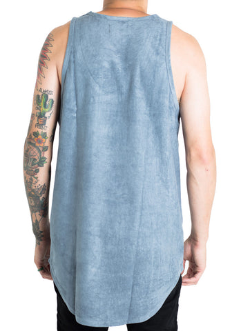 Jackson Suede Tank Top (Blue)