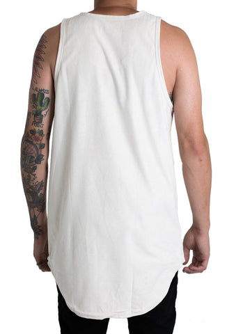 Jackson Suede Tank Top (Bone White)