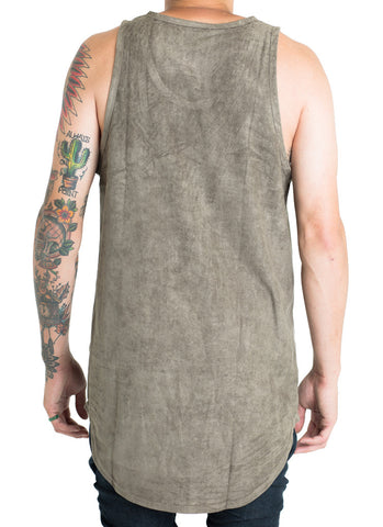 Jackson Suede Tank Top (Olive)