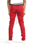 Jenner Track Pants (Brick Red/Tan)