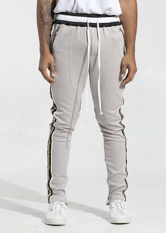 Jenner Track Pants (Light Grey/Metallic Gold)