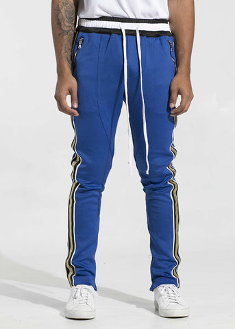 Jenner Track Pants (Blue/Metallic Gold)