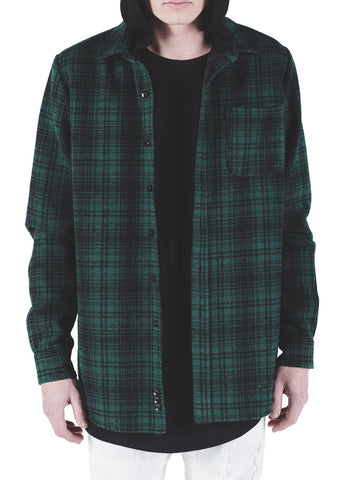 Kerr Hooded Flannel (Green)