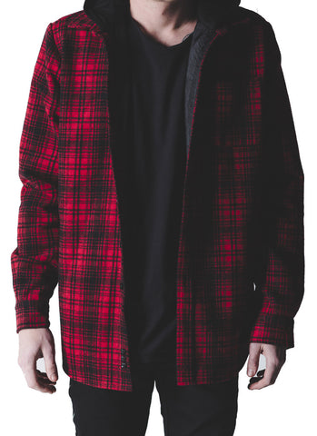 Kerr Hooded Flannel (Red)