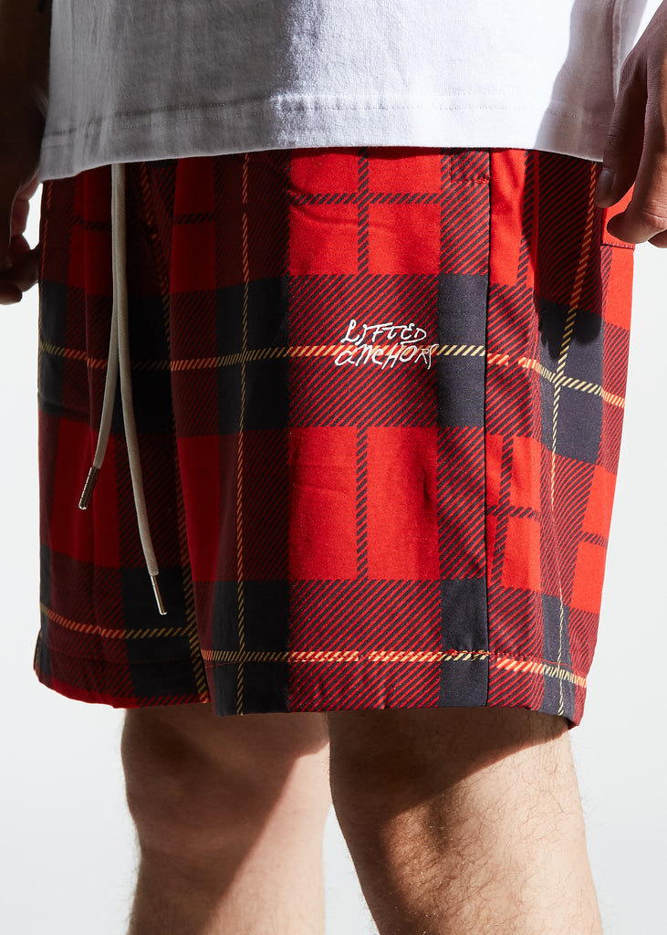 Ocean Shorts Plaid (Red)