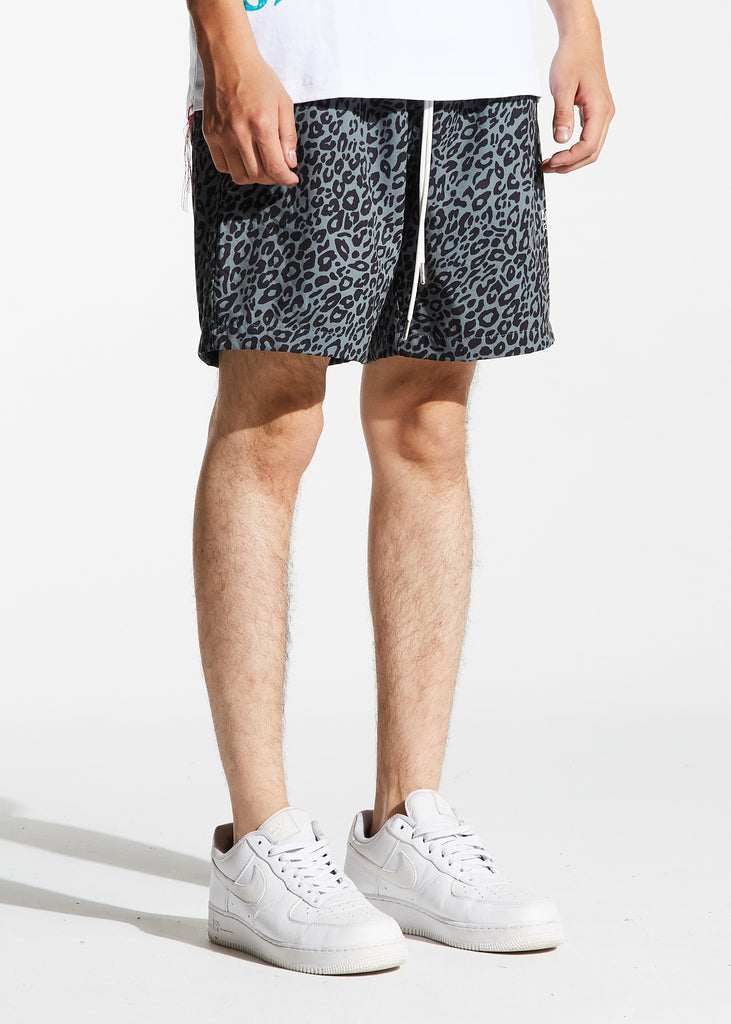 Ocean Shorts (Olive Cheetah)