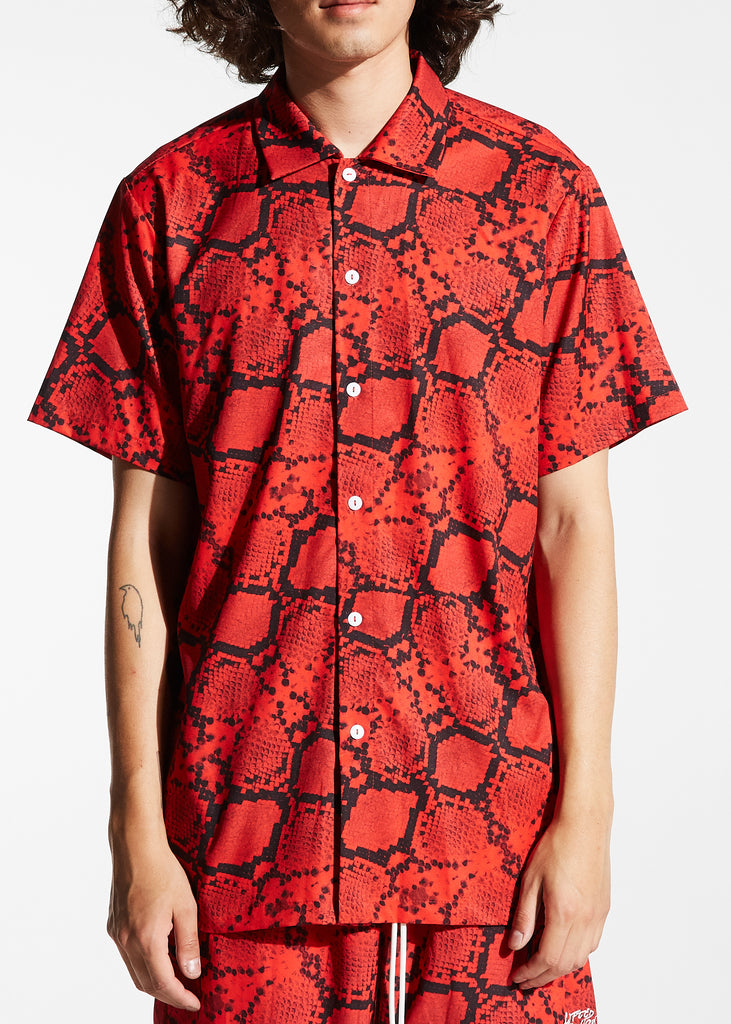 Ocean Shirt (Red Snakeskin)