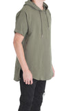 Nash Linen Hooded Tee (Olive)