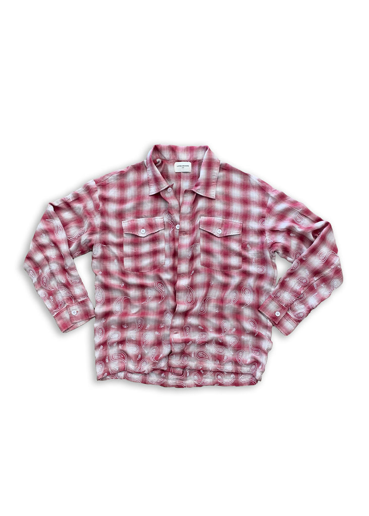 Lucius Bandana Flannel (Red)