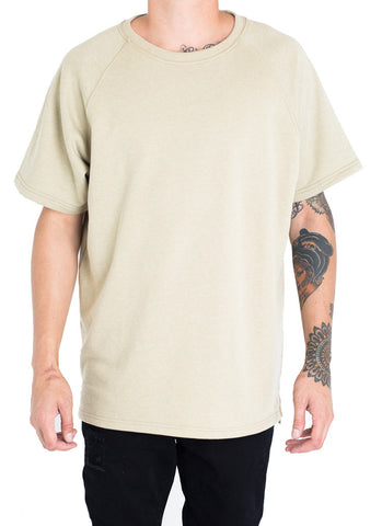 Payton French Terry Box Tee (Faded Olive)
