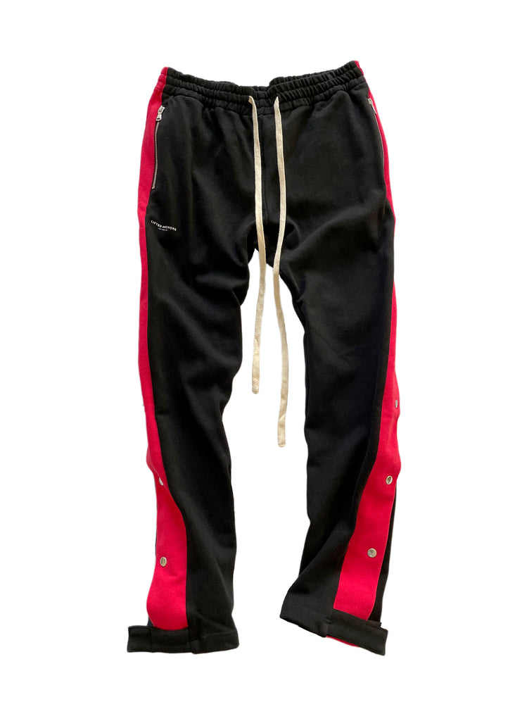 Alexander Snap Track Pants (Black/Red)