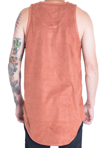 Jackson Suede Tank Top (Burnt Orange)