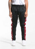 Drexler Tearaway Track Pants (Black/Maroon/White)