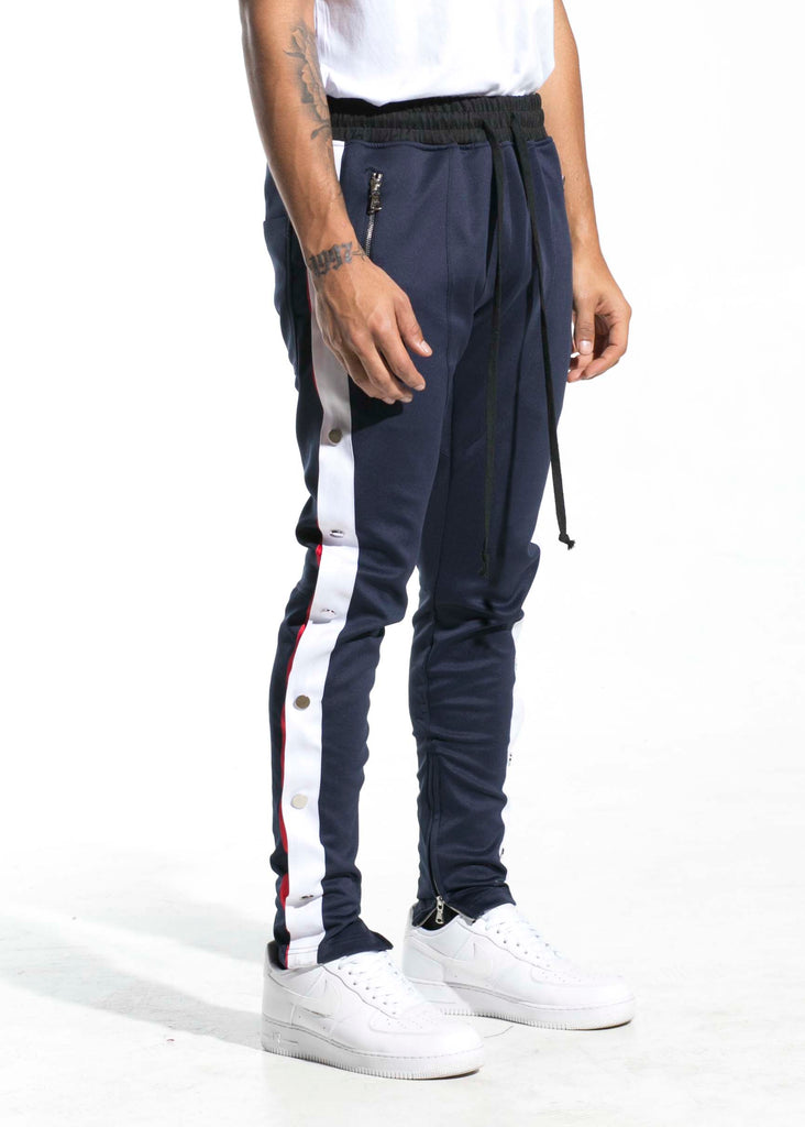Drexler Tearaway Trackpants (Navy/White/Red)