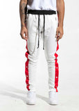 Drexler Tearaway Track Pants (White/Green/Red)