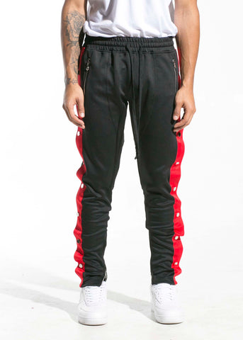 Drexler Tearaway Track Pants (Black/Green/Red)