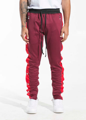 Drexler Tearaway Trackpants (Maroon/Red/White)
