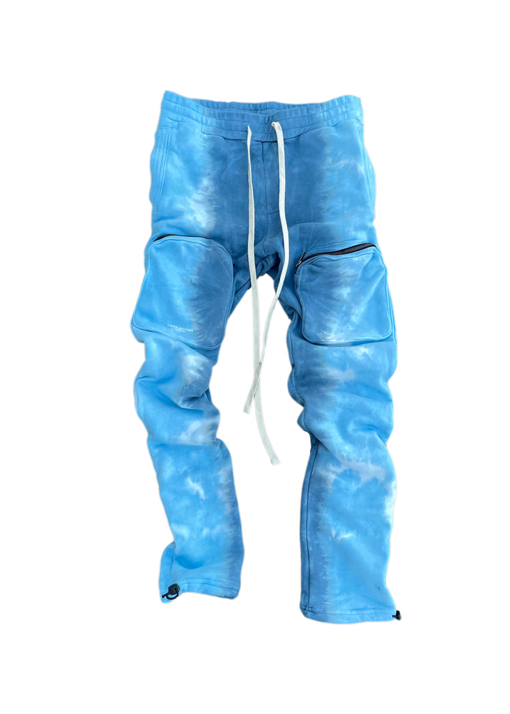 Voyager Tie Dye Cargo Sweat Pants (Water)