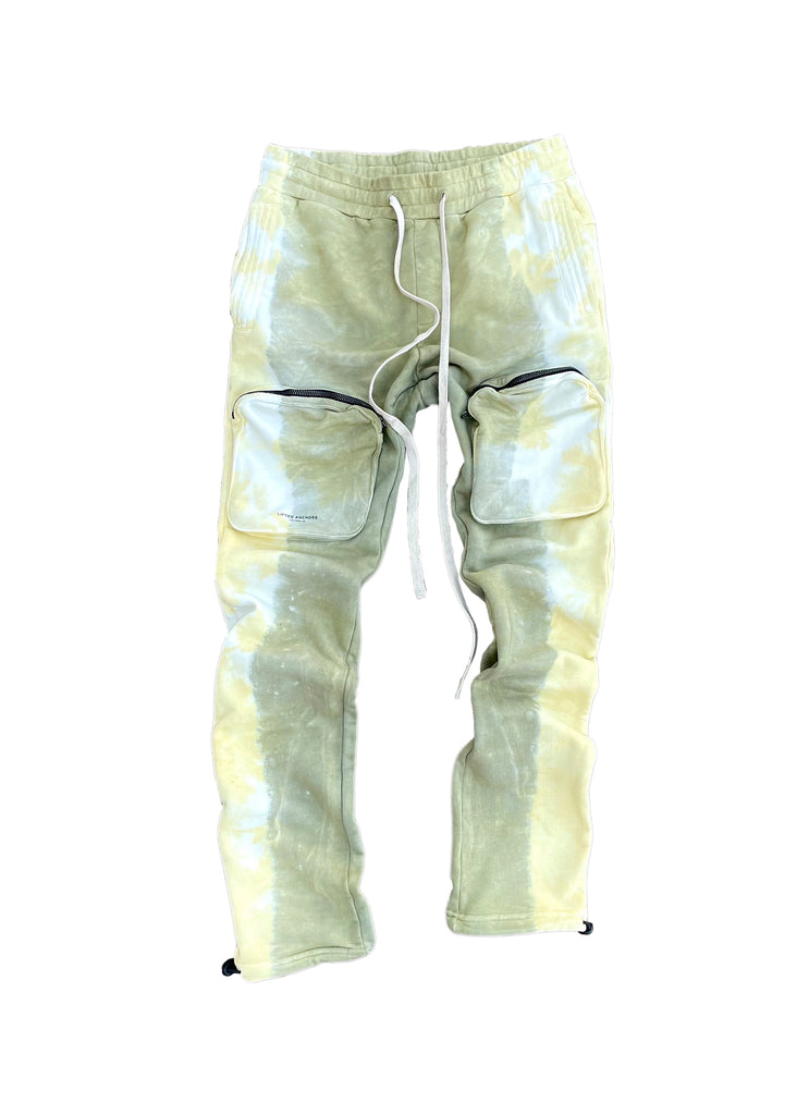 Voyager Tie Dye Cargo Sweat Pants (Earth)