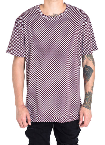 Wilkens Checkered Tee (Maroon/White)