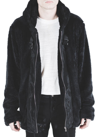 Ambrosio Faux Fur Jacket (Black)
