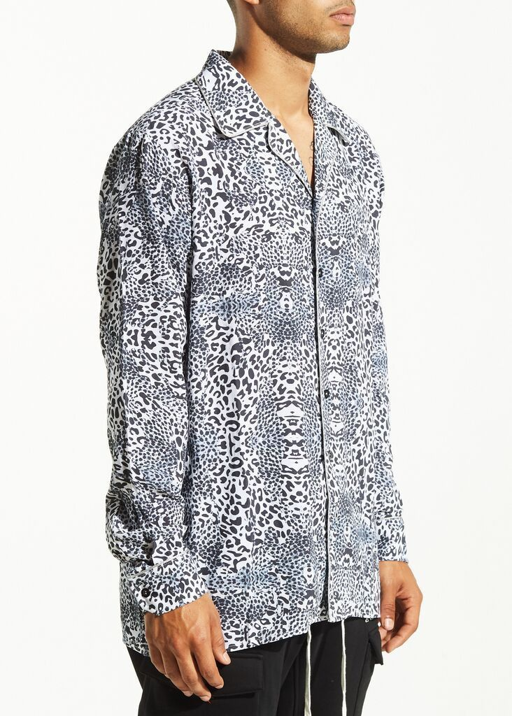 Yoko Button Up (Leopard Print)