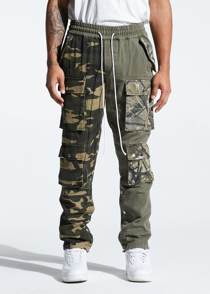 Harington Split Camo Pants (Olive)
