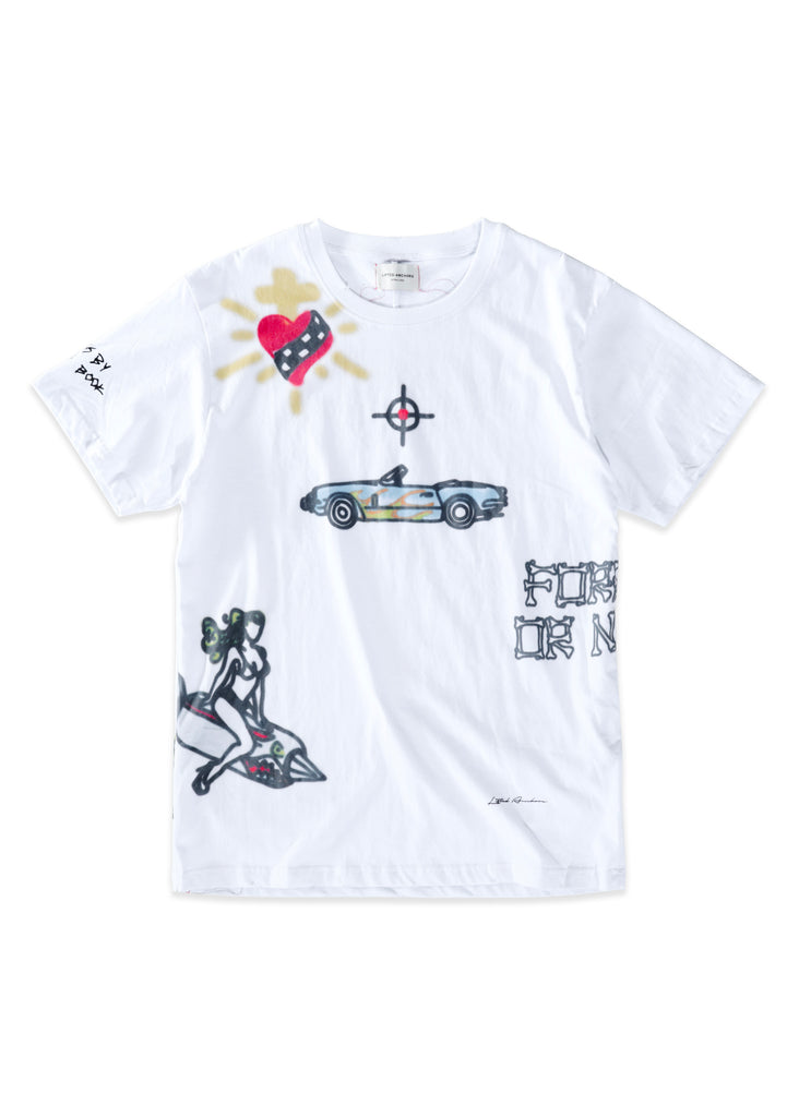 Alley Graphic Tee (White)