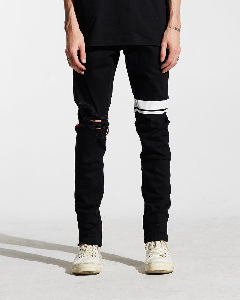 Jude Striped Denim (Black)