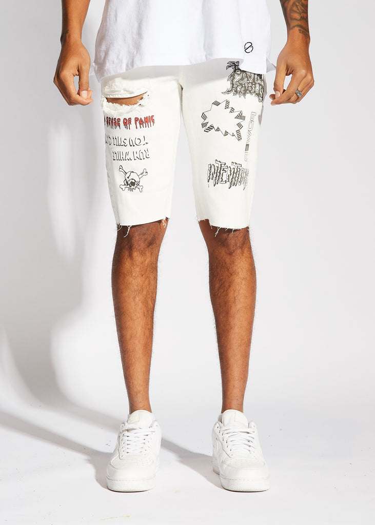 Presley Denim Shorts (White)