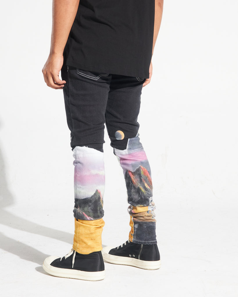 Wonderland Denim Pants (Black)