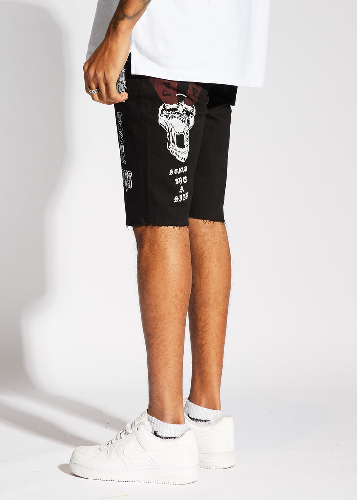 Presley Denim Shorts (Black)