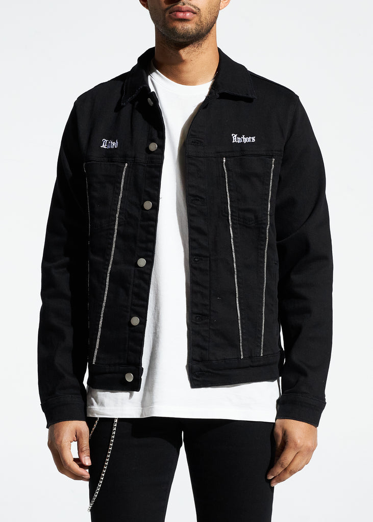 Prisoner Denim Jacket (Black)