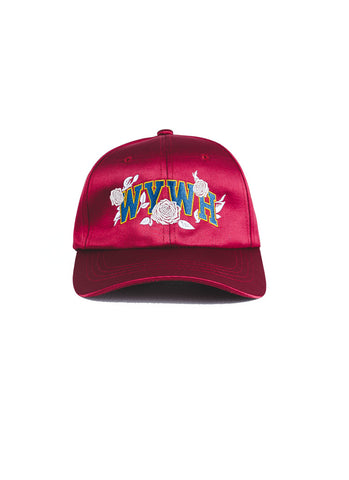 WYWH Satin Strap Back (Wine)