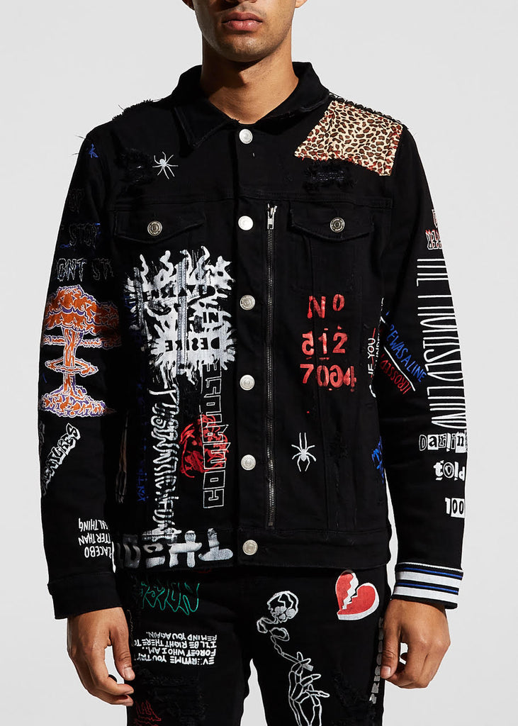 Hendrix Trucker Jacket (Black)