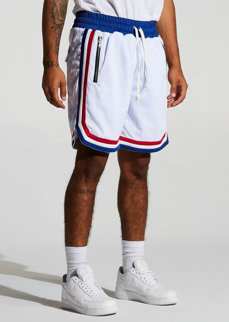 Jordan 2.0 Basketball Shorts  - Red/White/Blue (All Star)