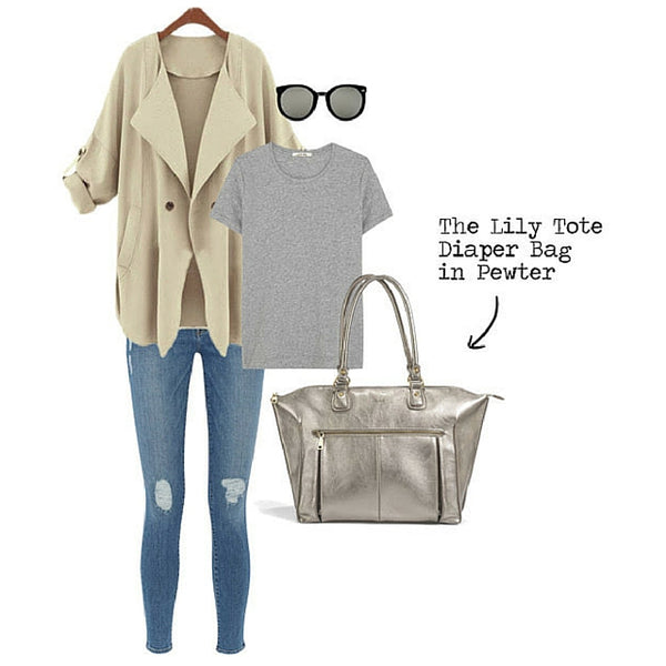 Dress up any outfit with the Newlie Lily Tote Diaper Bag