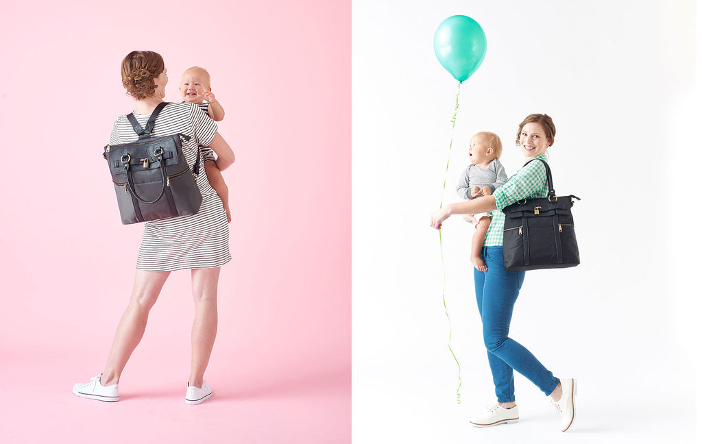 The Louise Backpack Diaper Bag is perfect for when you need both hands (all the time, right moms?).