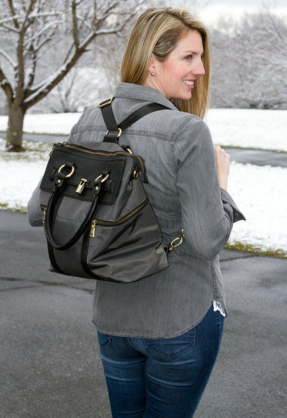 Sarah from BonBonRose Girls reviews the Louise Backpack Diaper Bag