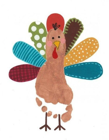 Foot Print DIY Turkey for Thanksgiving