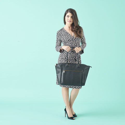 The Lily Tote in Black makes any mom look fashionable
