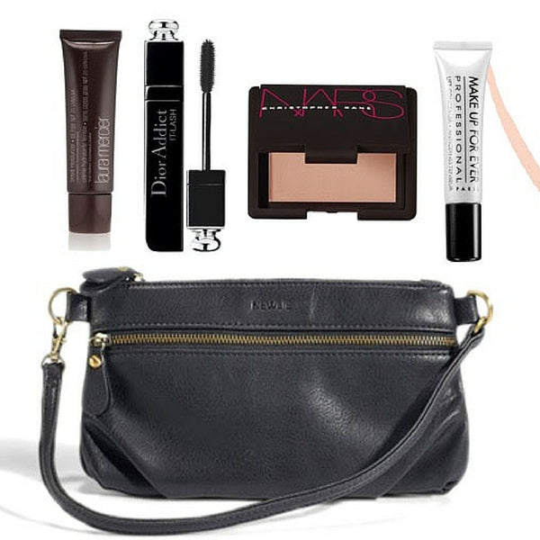 Your make up fits perfectly in the Newlie Clutch