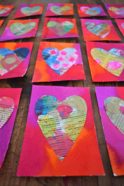 Painted Valentine's Day cards DIY project