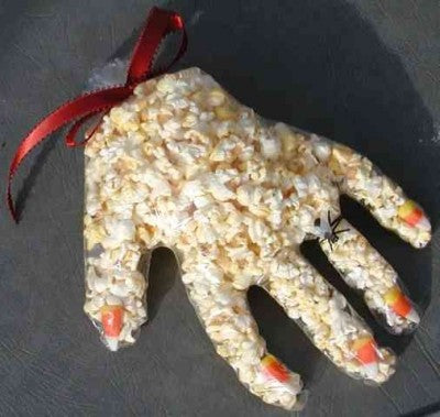 A ghoulish popcorn treat