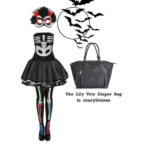 Don't get a trick, get a treat with the Lily Tote Diaper Bag by Newlie